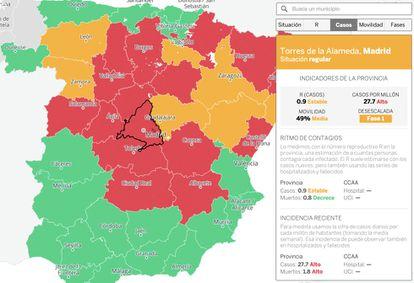 "Consulta <a href=""https://elpais.com/especiales/2020/coronavirus-covid-19/fases-desescalada/riesgo-de-rebrotes/?rel=friso-portada"">el mapa interactivo</a>."