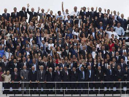 Homenaje a los medallistas en el Estadio Olímpico de Montjuïc.