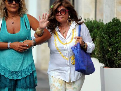 Patrizia Reggiani, por las calles de Milán.