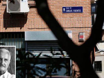 La calle de Carlos Fuentes en Madrid.