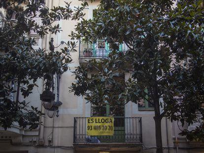 Piso en alquiler en el barrio de Gracia de Barcelona.