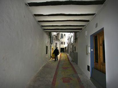 Una calle del barrio del Azoque de Chelva