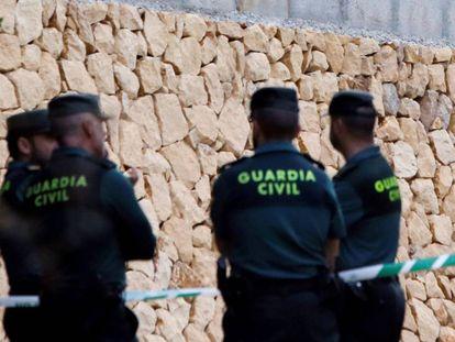 Agentes de la Guardia Civil de Alicante, el pasado octubre.