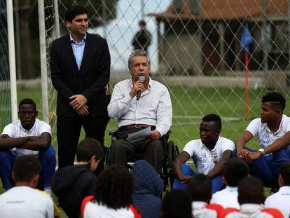 El presidente de Ecuador, Lenín Moreno, junto a su vicepresidente, Otto Sonnenholzner, este martes en Quito.