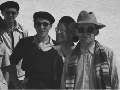Algunos de los miembros fundadores del colectivo Bourbaki; entre ellos, André Weil (con gafas graduadas).