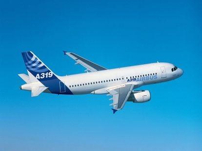 Avión A319 de una aerolínea que opera en España.