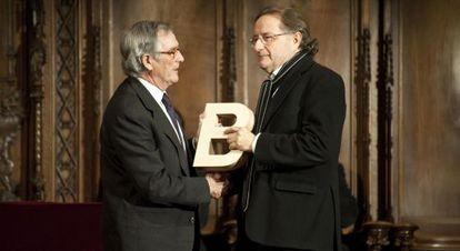 El exdirector del CCCB Josep Ramoneda, tras recoger el Premio Ciutat de Barcelona.