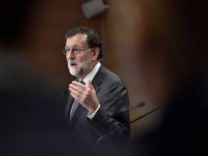 Mariano Rajoy durante una conferencia de prensa.
