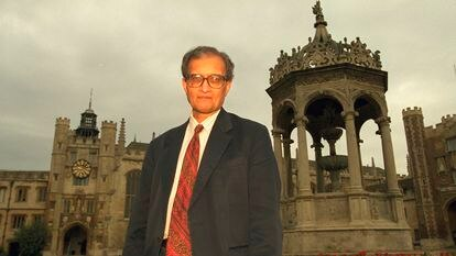 Amartya Sen, en Cambridge en 1998.