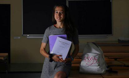 Helena García Escudero, estudiante de Matemáticas y Físicas en la Complutense.