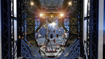 Reconstrucción del Telescopio Gigante de Magallanes.