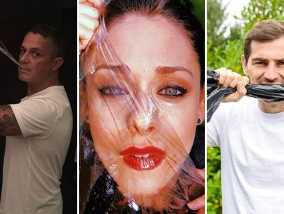 De izquierda a derecha: Alejandro Sanz, Elena Rivera e Iker Casillas, en la campaña #yoelijoplaneta.
