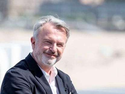 Sam Neill posa en San Sebastián hace dos semanas en la presentación de 'La decisión'