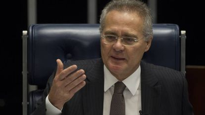 Renan Calheiros, presidente del Senado de Brasil, el jueves en Brasilia.