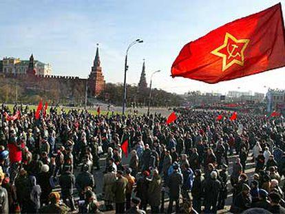 Conmemoración del aniversario de la revolución soviética, el pasado viernes en Moscú.