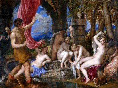 'Diana y Acteón', Tiziano entre 1556 y 1559.