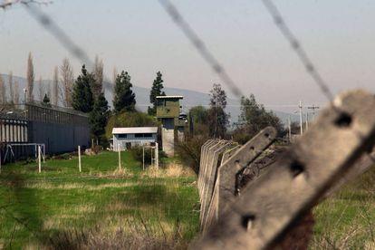 Vista de la prisión militar de Punta Peuco, cerca de Santiago de Chile.
