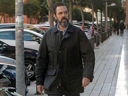 El único acusado por el asesinato de María del Carmen Martínez Miguel López, en la entrada a la última sesión del juicio este miércoles.