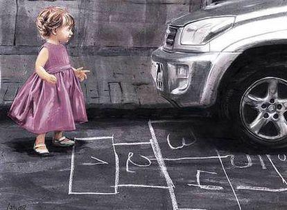El tráfico expulsa de las calles a los niños, que tienden a construir su mundo en su habitación.