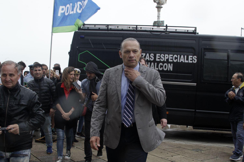 El ministro de Seguridad de la provincia de Buenos Aires, Sergio Berni, en la ciudad de Mar del Plata, el 30 de diciembre de 2019.