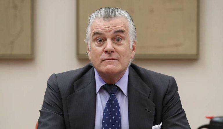 Luis Bárcenas, en la comisión de investigación sobre la financiación del PP del Congreso, en 2017.