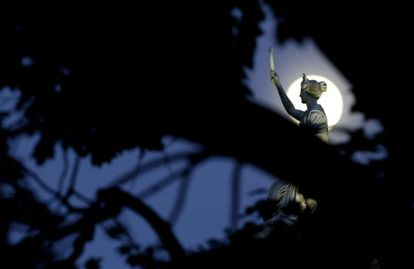 La Luna, fotografiada este viernes en Nueva Jersey.