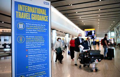 Terminal de llegada de viajeros del aeropuerto de Heathrow, en Londres, el 8 de junio
