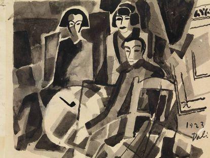 'Salvador Dalí y Maruja Mallo en el Café de Oriente' de 1923.
