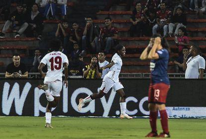 Linda Caicedo, del América, celebra su gol ante el Medellín en la final del 2019.