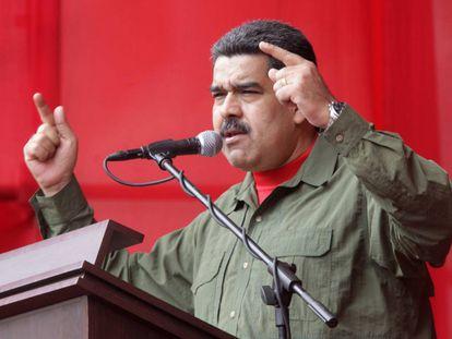 El presidente venezolano, Nicolás Maduro, el jueves en Caracas.