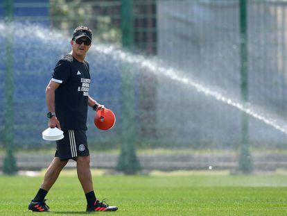 Juan Carlos Osorio, en el entrenamiento de México.