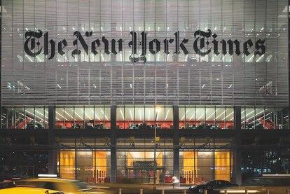El edificio del diario The New York Times es una obra de Renzo Piano.