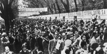 Primera edición de la Feria del Libro de Madrid, en 1933.