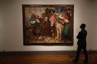 El cuadro 'aldeanos Leoneses', de Sorolla, de la 'Hispanic Society of America'.