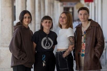 La banda punky pop Lisasinson, que también ha actuado este sábado en Colmenar de Oreja.