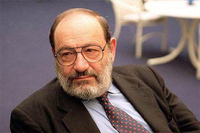 Umberto Eco, catedrático de Semiótica en la Universidad de Bolonia.