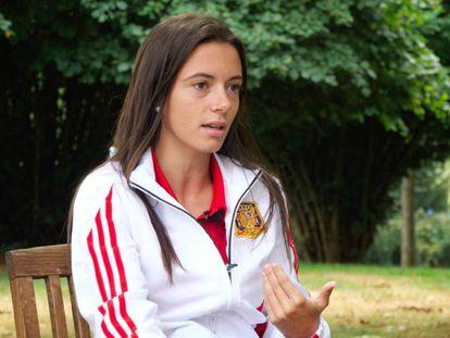 Aitana Bonmatí, durante la última concentración de la selección española.