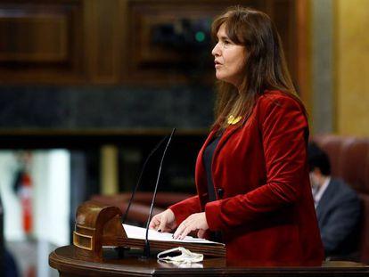 Laura Borràs interviene en el Congreso.