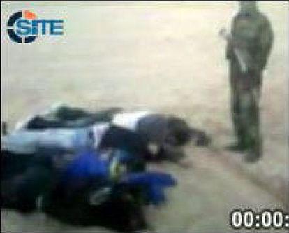 Los rehenes asesinados, en una imagen del SITE Intelligence Group.