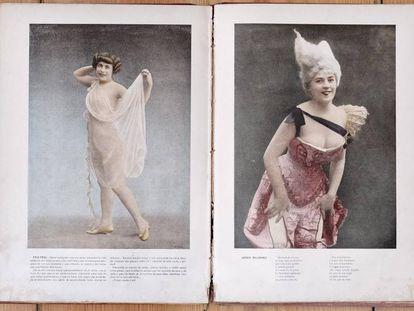Imágenes del libro 'Mujeres galantes', que forma parte de la biblioteca erótica de Berlanga que sale a subasta.