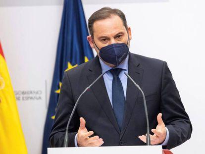 El ministro de Transportes, Movilidad y Agenda Urbana, José Luis Ábalos, el pasado 10 de abril.