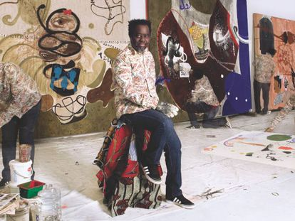 Imagen del artista marfileño Ouattara Watts, presente en la exposición del Mattatoio.