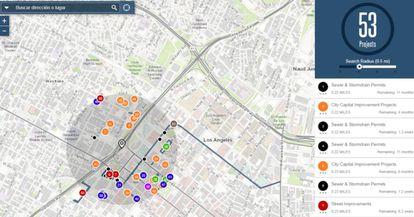 Street Wize muestra las obras en marcha o proyectadas en cualquier zona de la ciudad.