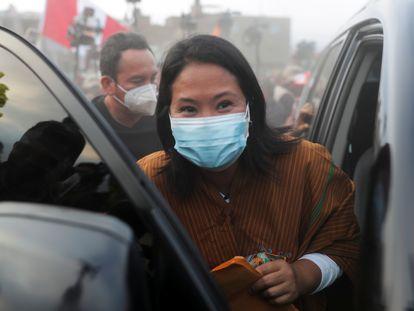 La candidata conservadora Keiko Fujimori, el 20 de mayo en Lima.
