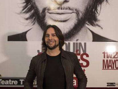 Joaquín Cortés, durante la presentación del nuevo espectáculo.