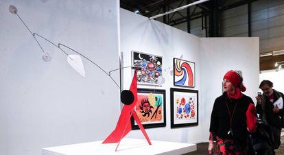 Una de las obras de la galería Mayoral en Arco.
