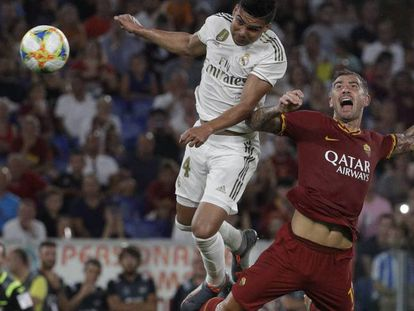 Casemiro cabecea el segundo gol del Madrid ante Kolarov. En vídeo, declaraciones de Fede Valverde tras el partido.