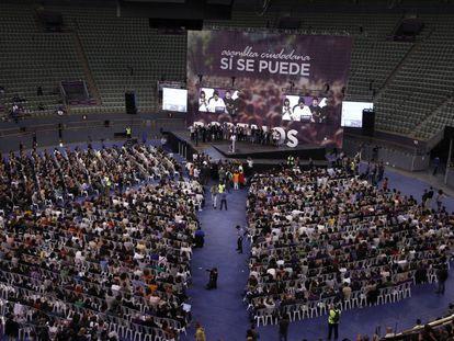 Discurso inaugural de Pablo Iglesias en la plaza de Vistalegre (Madrid).