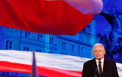 Jaroslaw Kaczynski, lider de Ley y Justicia, en un acto del partido el 2 de septiembre.