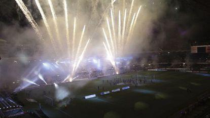 Imagen de Balaidos celebrando el ascenso del equipo